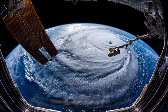 "Uragan ""Florence"", pogled iz ISS-a"