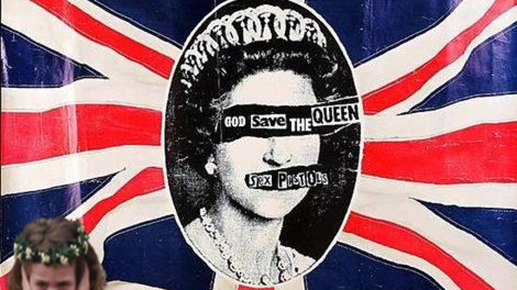 "Ilustracija hita Sex Pistolsa ""God Save the Queen"""
