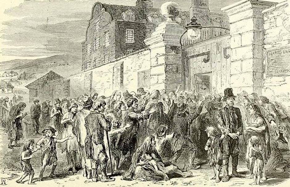 Prikaz velike gladi u Irskoj iz 19. stoljeća | Author: Wikimedia Commons