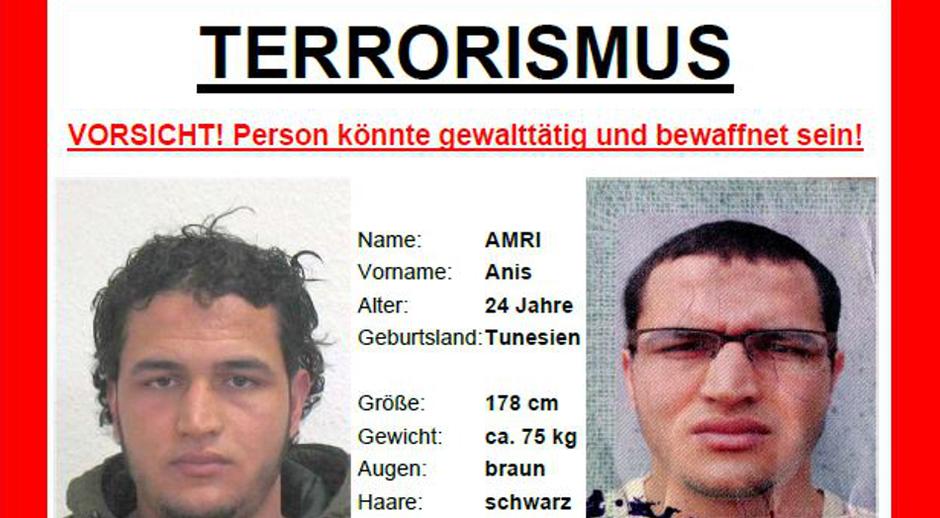 Terorist ISIL-a Anis Amri, Tunižanin koji je kamionom gazio ljude u Berlinu 2016. | Author: Bundeskriminalamt
