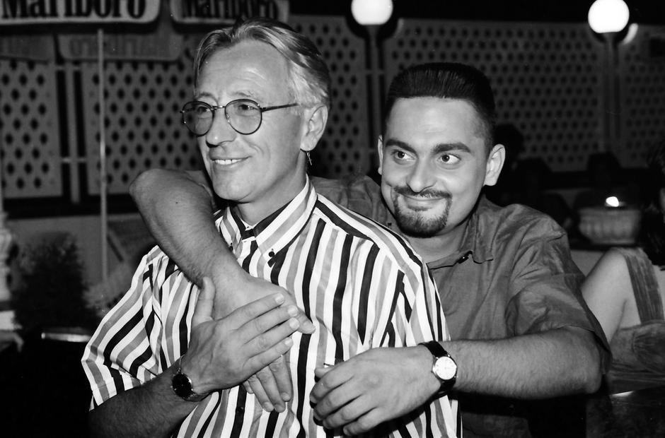 Oliver i Dino Dvornik 1993. u Saloonu   Author: Davor Višnjić/PIXSELL