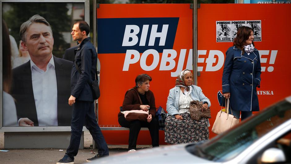 Izbori u BiH, Željko Komšić na plakatu | Author: Dado Ruvić/Reuters/Pixsell