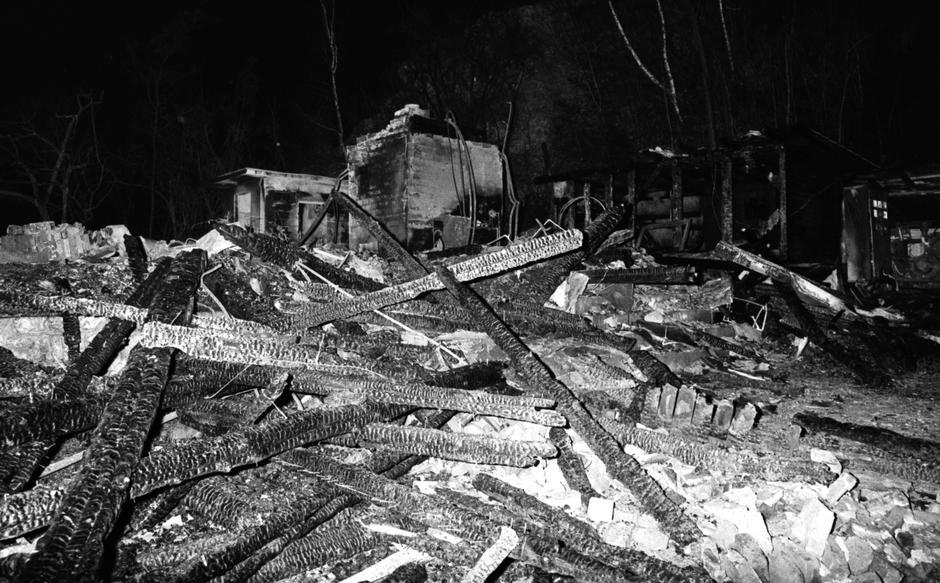 Adolfovac: Mjesto gdje je ubijena obitelj Zec, 17.01.1993. | Author: Siniša Hančić/Pixsell/History