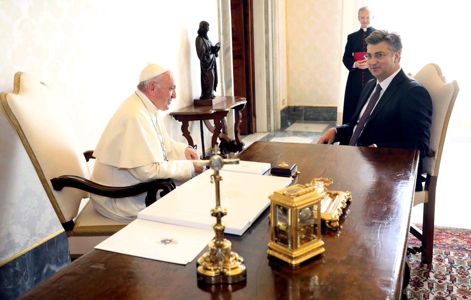 Papa Franjo, Andrej Plenković, 7. 10. 2017., Vatikan | Author: Lana Slivar Dominic/PIXSELL