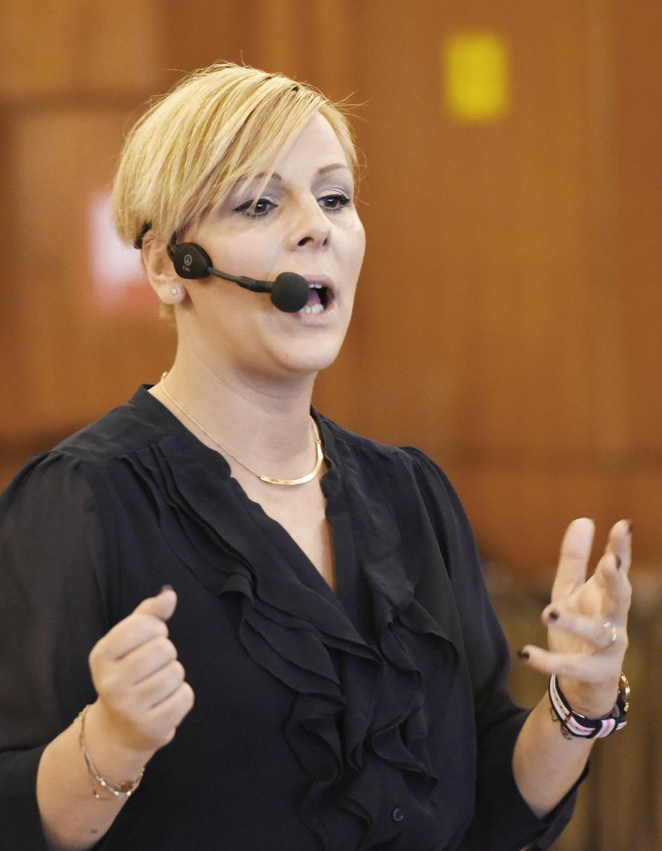 Ana Bučević, motivacijska govornica   Author: Davor Višnjić/PIXSELL