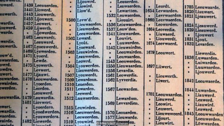 Popis imena nizozemskog grada sa 100 imena | Author: Mike MacEacheran
