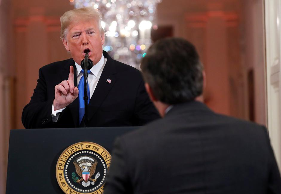 Novinar CNN-a Jim Acosta i Donald Trump | Author: KEVIN LAMARQUE/REUTERS/PIXSELL