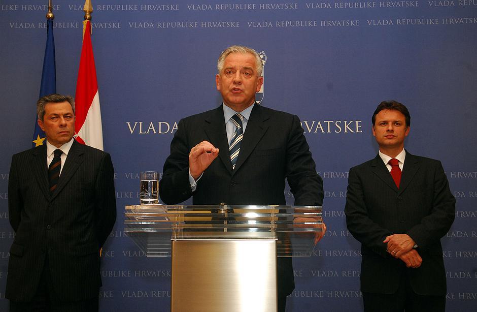 Vladimir Drobnjak, Ivo Sanader, Gordan Jandroković 2008. | Author: Željko Hladika/24sata/PIXSELL
