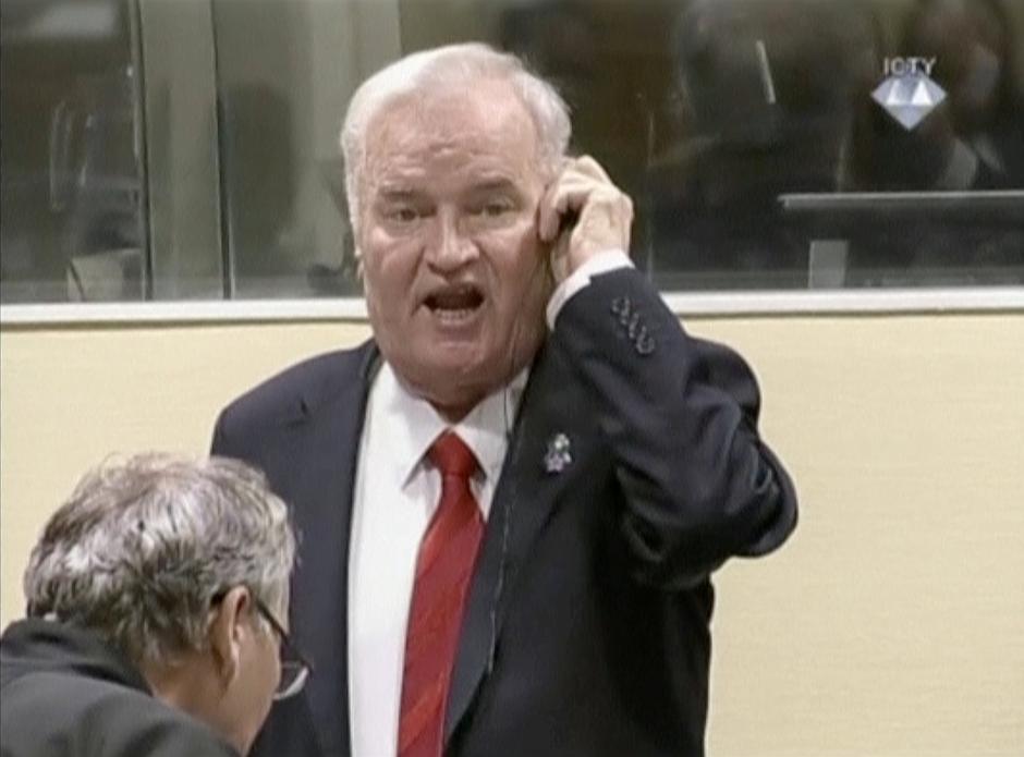 Ratko Mladić u trenutku čitanja presude   Author: Handout/REUTERS/PIXSELL