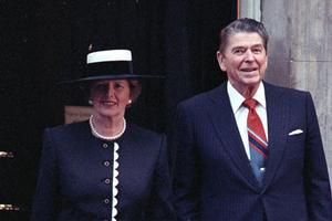 Margaret Thatcher i Ronald Reagan
