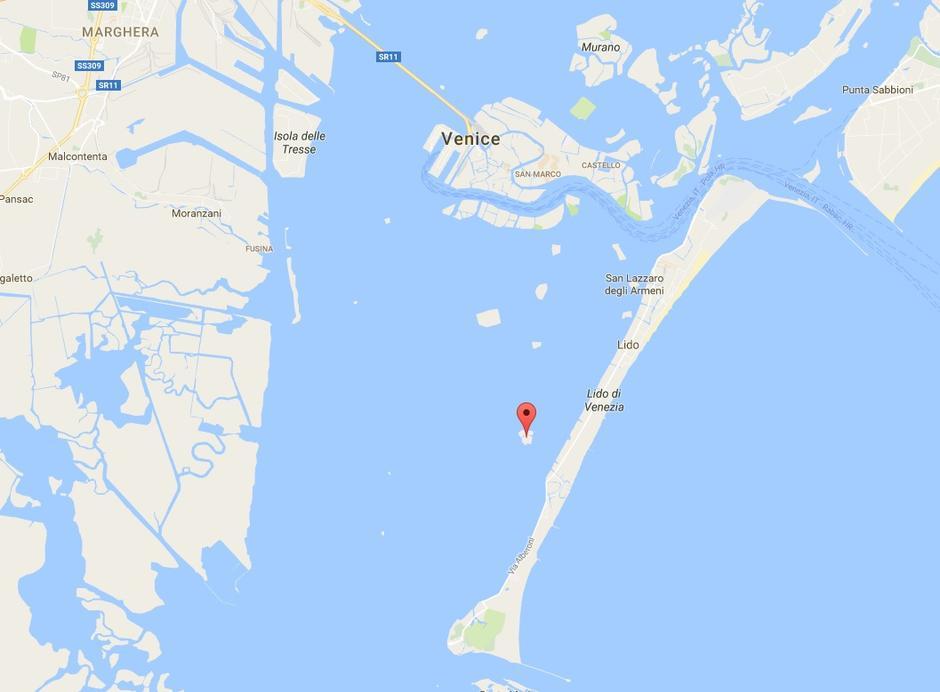 Prikaz otoka Poveglie na karti | Author: Pinterest