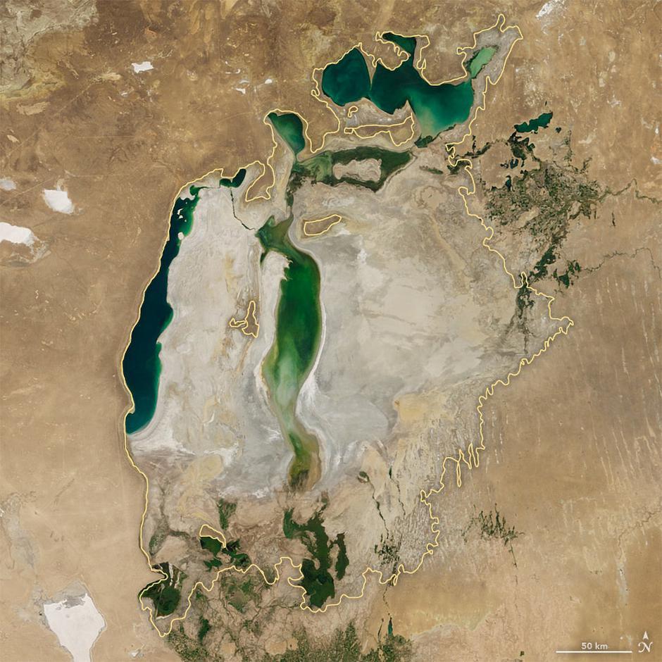 Aralsko jezero | Author: NASA
