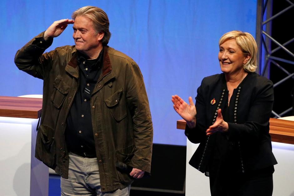 Steve Bannon i Marine Le Pen | Author: REUTERS