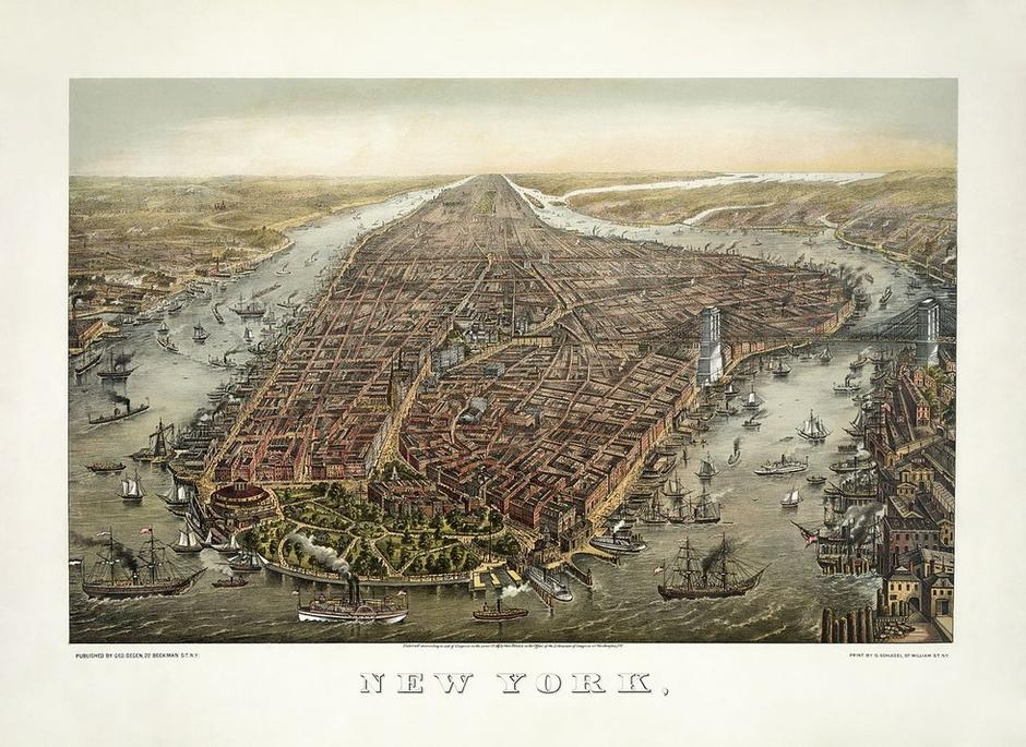 Prikaz New Yorka iz 19. stoljeća | Author: Wikimedia Commons