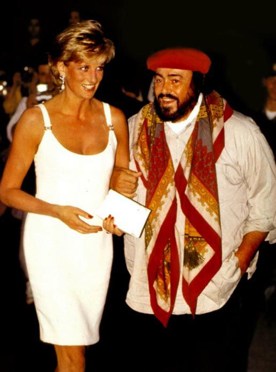 Luciano Pavarotti i Lady Di | Author: Wikipedia Commons