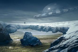 Ilustracija kontakta s izvanzemaljcima