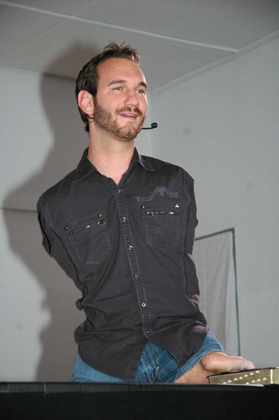 Nick Vujicic, motivacijski govornik   Author: Wickipedia