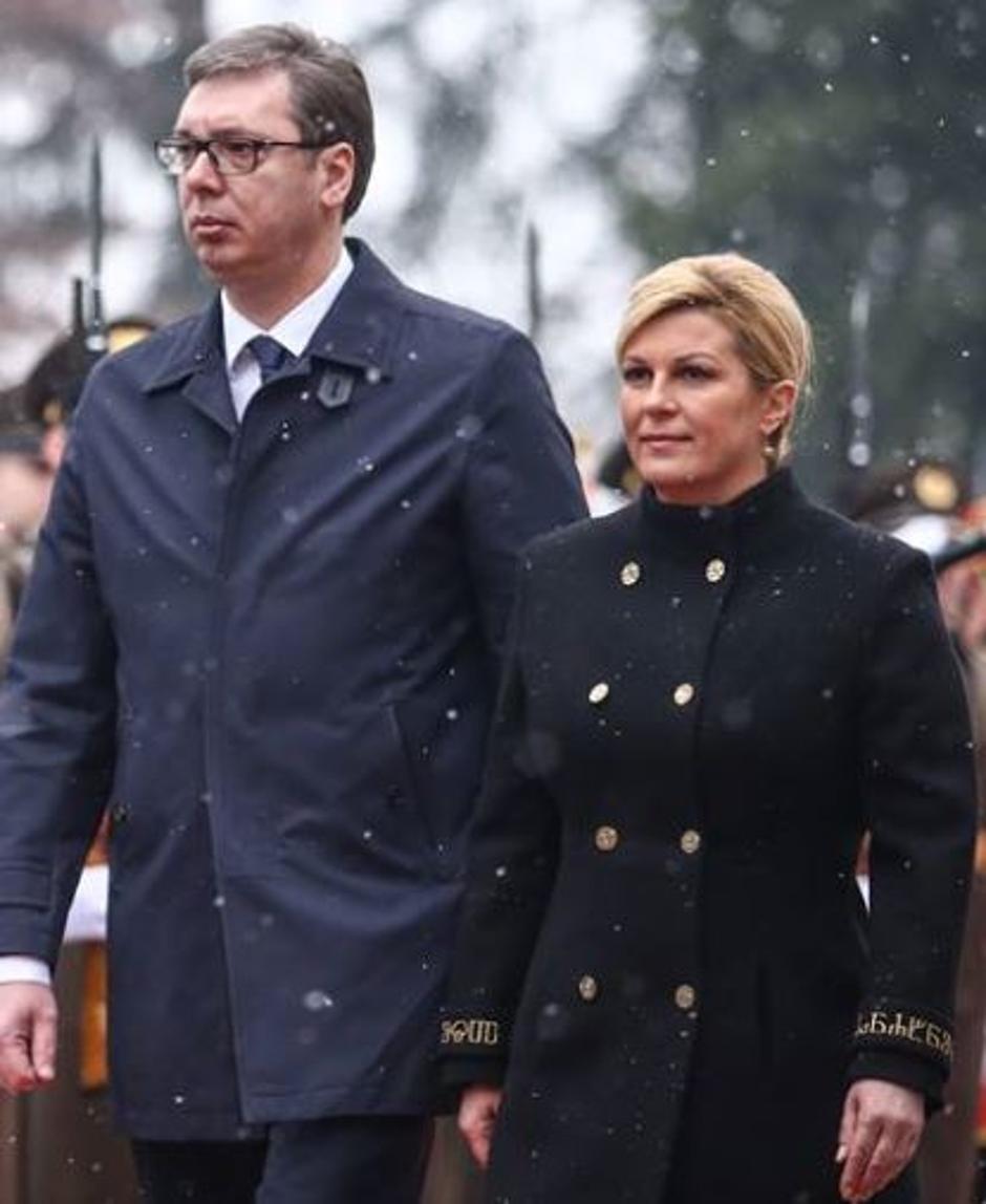 Hrvatska predsjednica i Aleksandar Vučić | Author: Igor Šoban/PIXSELL