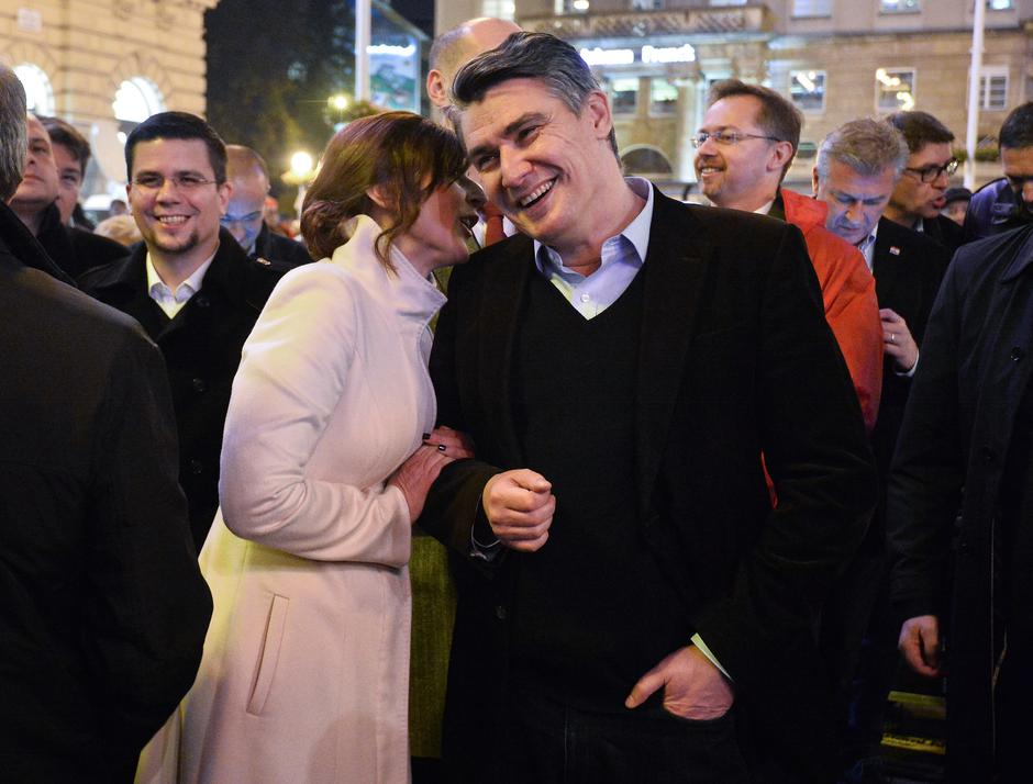 Sanja i Zoran Milanović | Author: Marko Prpic/Pixsell