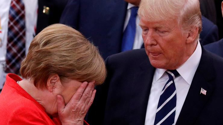 Angela Merkel i Donald Trump