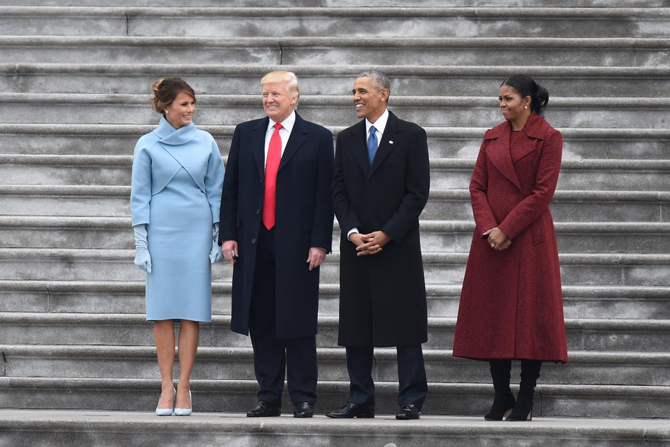 Washington: Donald i Melania Trump u društvu Baracka i Michelle Obame uoči inauguracije | Author: Press Association/PIXSELL