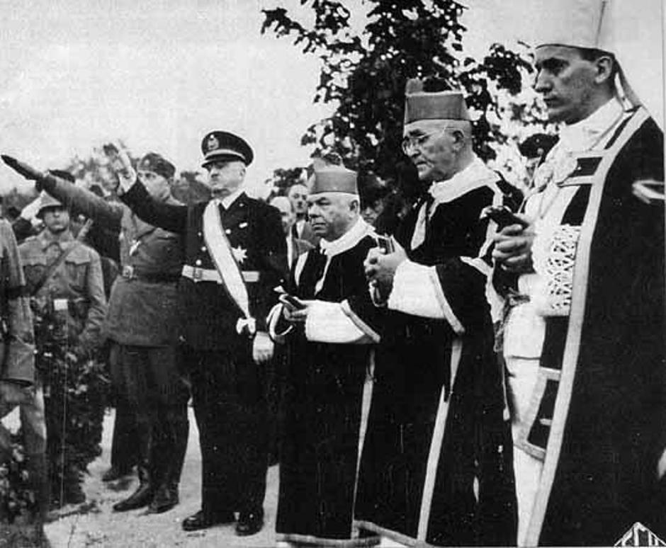 Ustaše, katolički kler i nadbiskup Alojzije Stepinac | Author: Public Domain