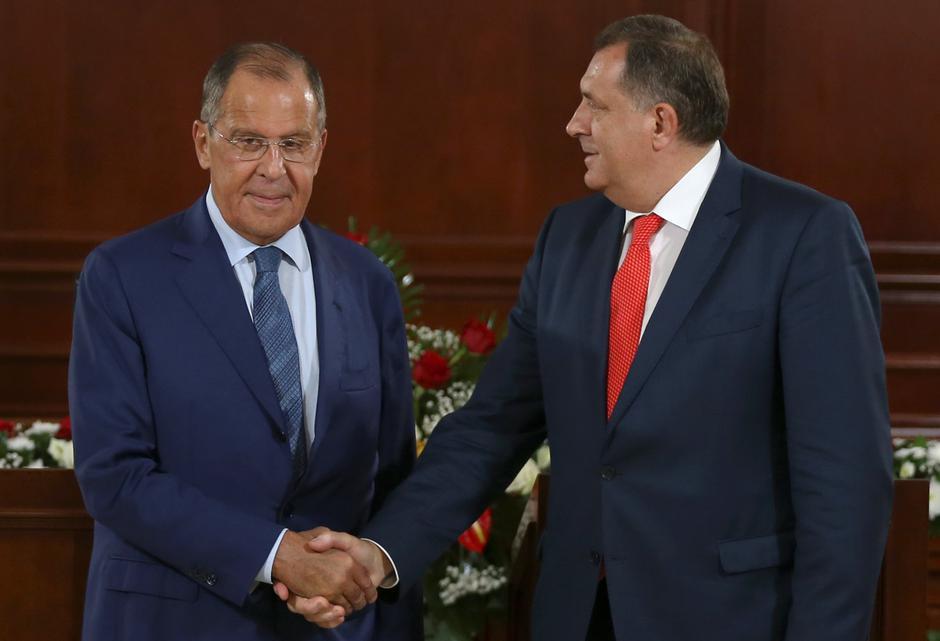 Ruski ministar vanjskih poslova Sergej Lavrov i predsjednik RS Milorad Dodik | Author: DADO RUVIC/REUTERS/PIXSELL