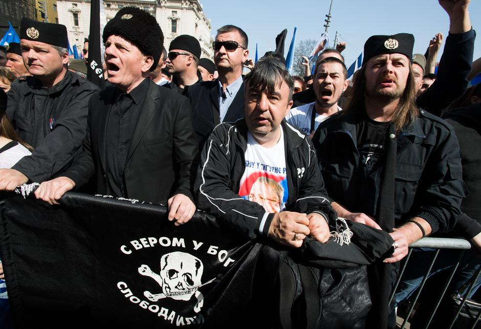Beograd: Predizborni skup Vojislava Šešelja, predsjedničkog kandidata SRS | Author: PIXSELL