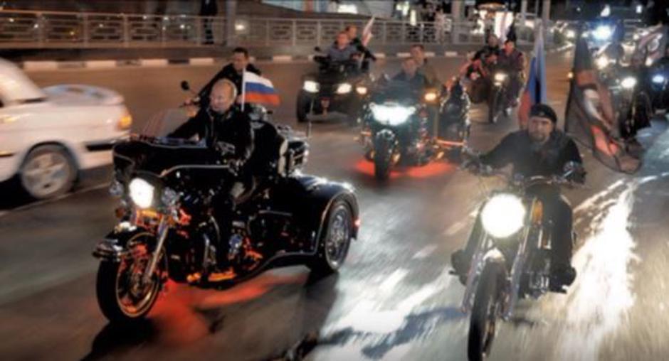 Vladimir Putin u vožnji s Noćnim vukovima | Author: YouTube screenshot