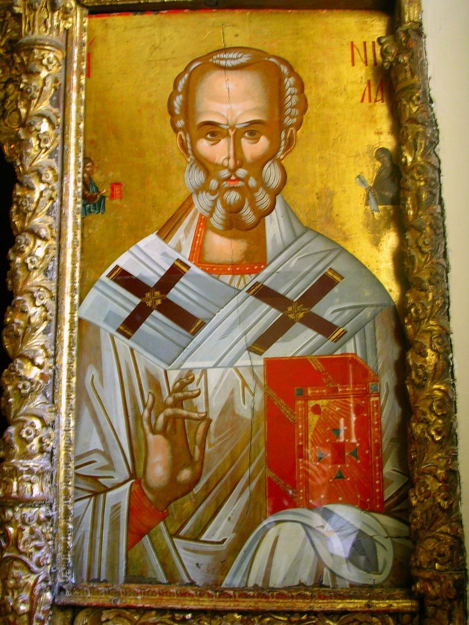 Sveti Nikola, freska, KApela Sv. Trojstva, Heybeliada, Turska | Author: Lapost/Wikipedia