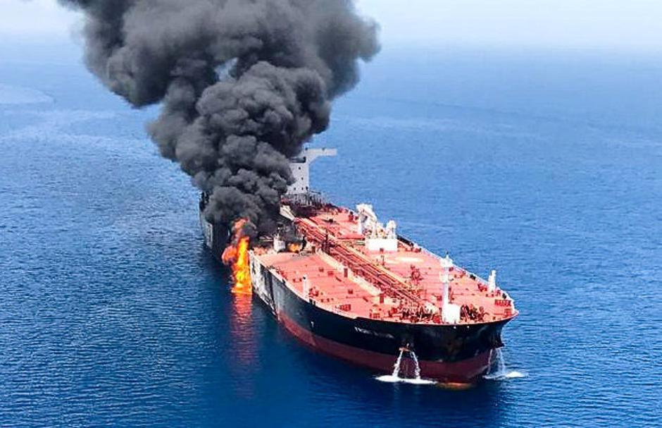 Tanker u Hormuškom zaljevu | Author: Handout/REUTERS/PIXSELL