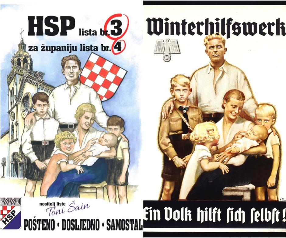 Kolaž HSP i nacisti | Author: screenshot
