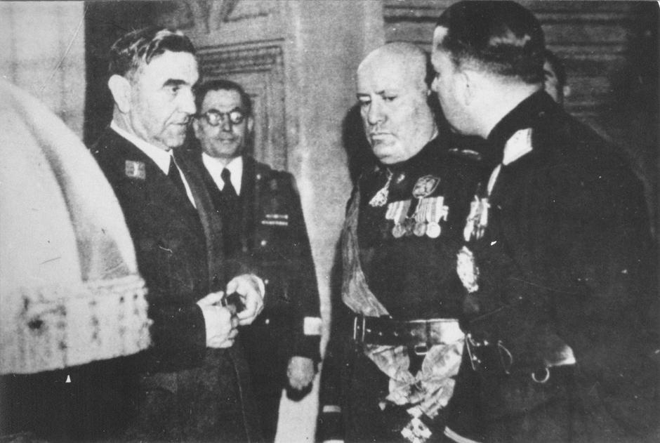 Ante Pavelić i Benito Mussolini | Author: Wikipedia