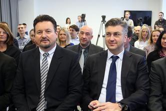 Lovro Kuščević i Andrej Plenković
