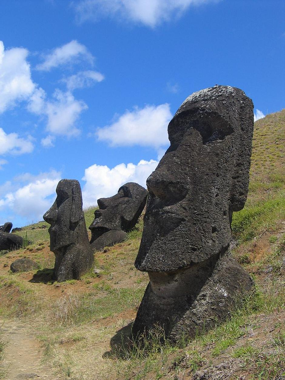 Moai kipovi na Uskršnjim otocima | Author: Wikipedia Commons
