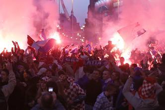 Navijačka euforija na Trgu bana Jelačića u Zagrebu