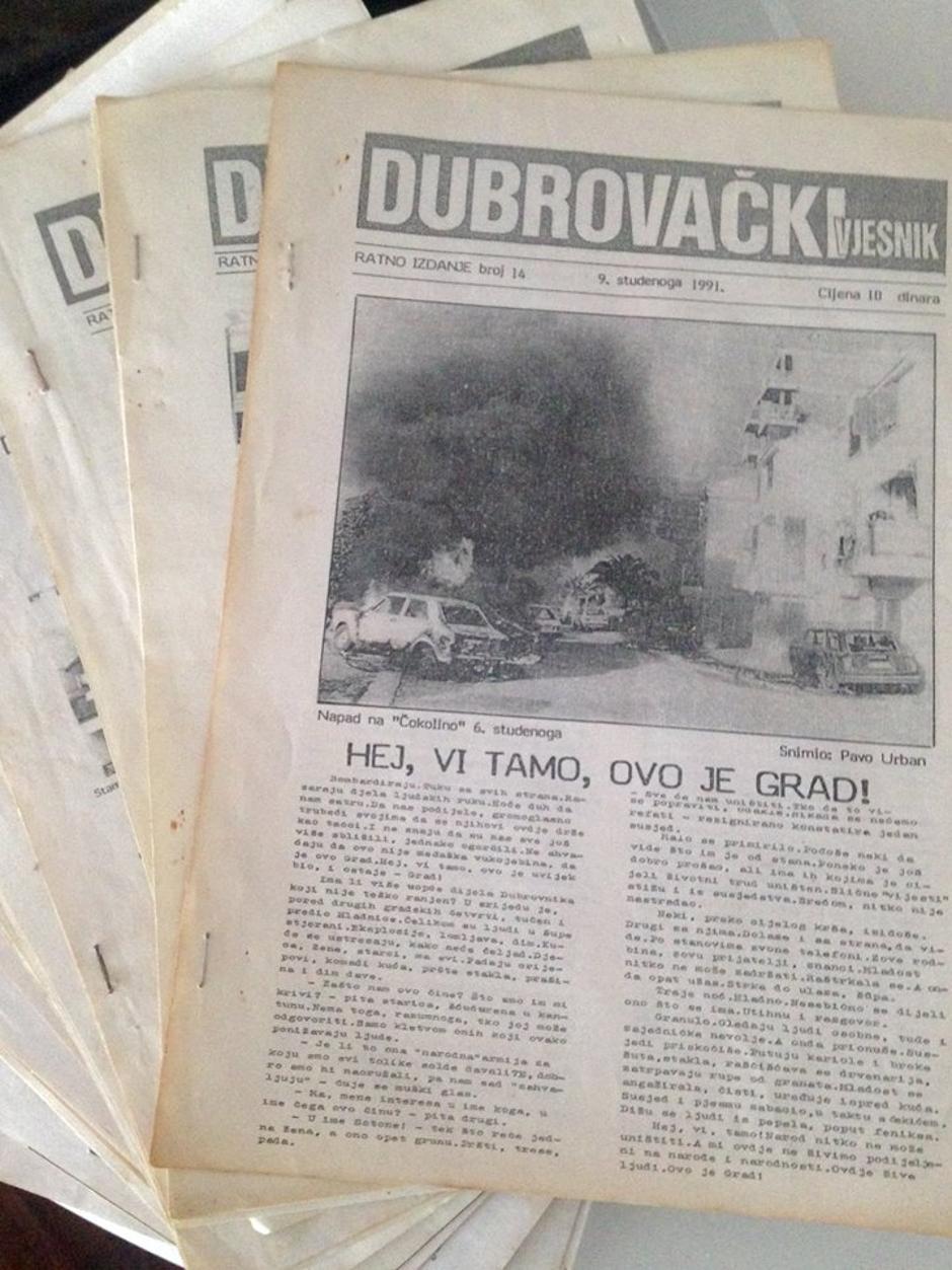 Ratne naslovnice Dubrovačkog vijesnika | Author: Privatna arhiva