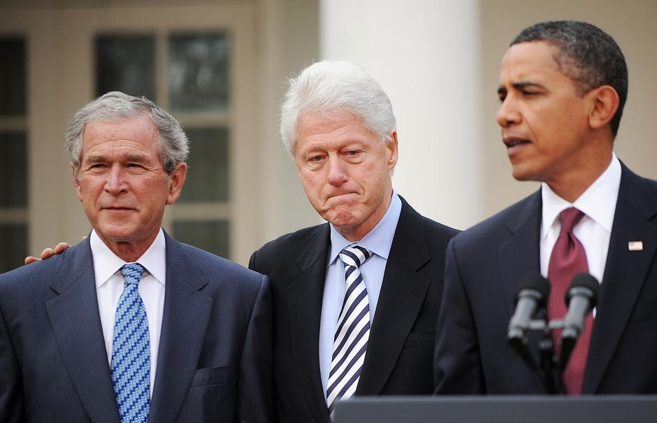 George Bush, Bill Clinton i Barack Obama | Author: Olivier Douliery/Press Association/PIXSELL