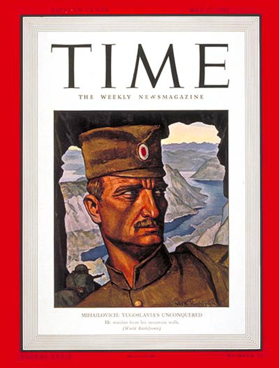 Draža Mihailović na naslovnici Time časopisa | Author: Wikipedia