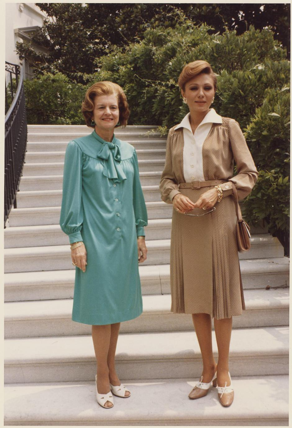 Farah Pahlavi i Betty Ford u SAD-u 1975. godine | Author: wikipedia