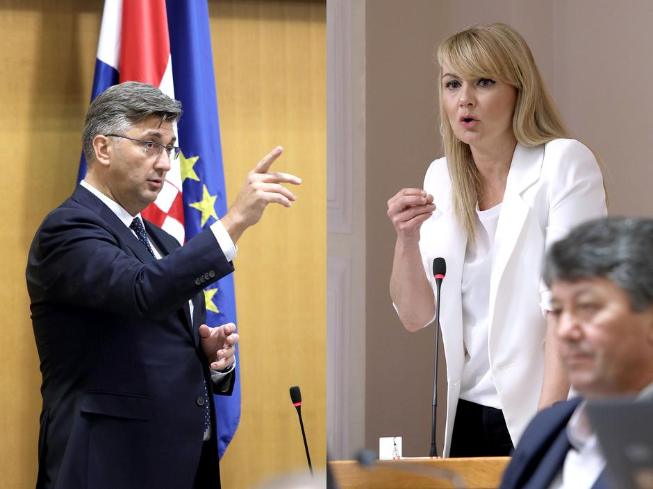 Andrej Plenković vs. Bruna Esih | Author: Patrik Macek/ PIXSELL