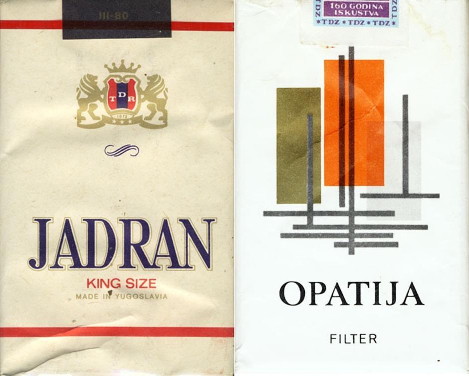Cigarete proizvedene u Hrvatskoj za vrijeme SFRJ | Author: Instagram