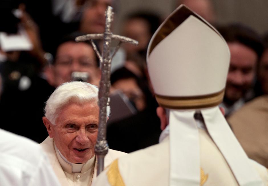 Papa Franjo i umirovljeni Benedikt XVI | Author: VATICAN MEDIA/REUTERS/PIXSELL