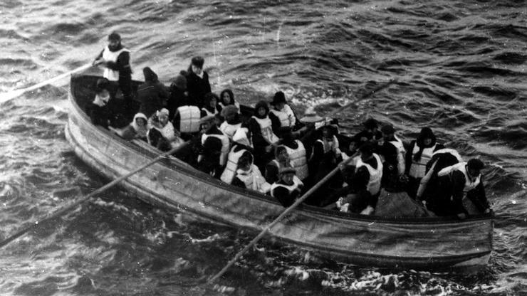 Prikaz čamaca za spašavanje s Titanica