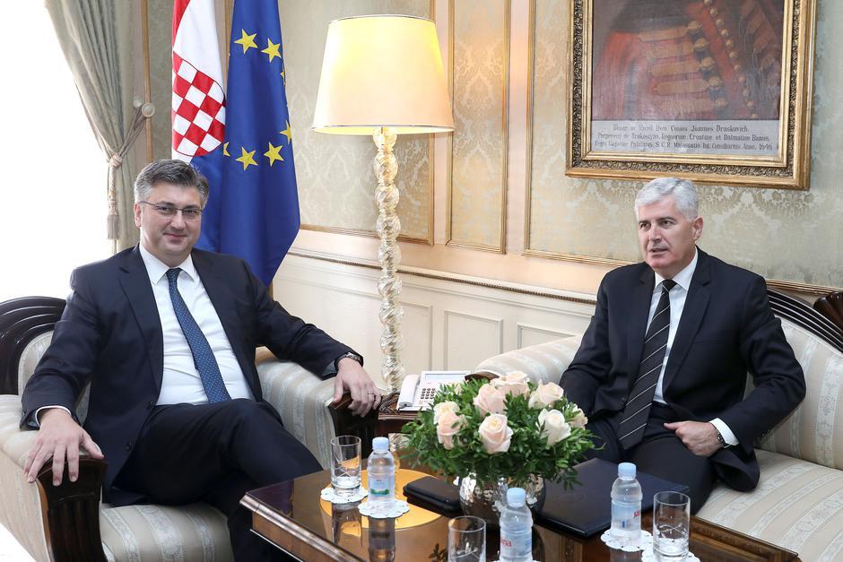 Andrej Plenković i Dragan Čović | Author: Patrik Macek (PIXSELL)