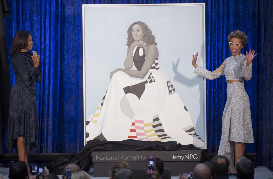 Portreti Baracka i Michelle Obame | Author: JIM BOURG/REUTERS/PIXSELL