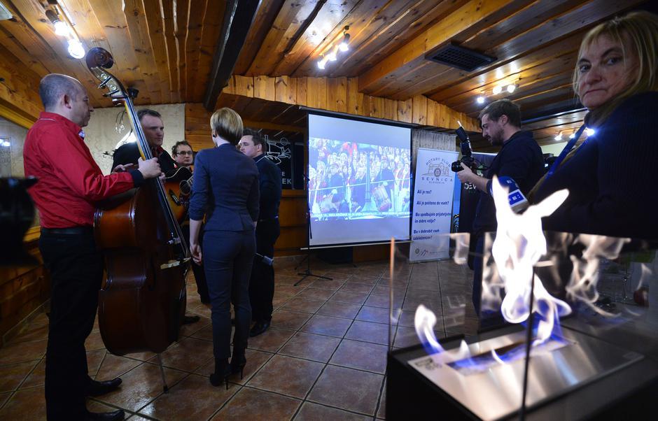 Sevnica, rodni gradić Melanie Trump, svečano praćenje inauguracije u siječnju 2017.   Author: Marko Prpić/PIXSELL