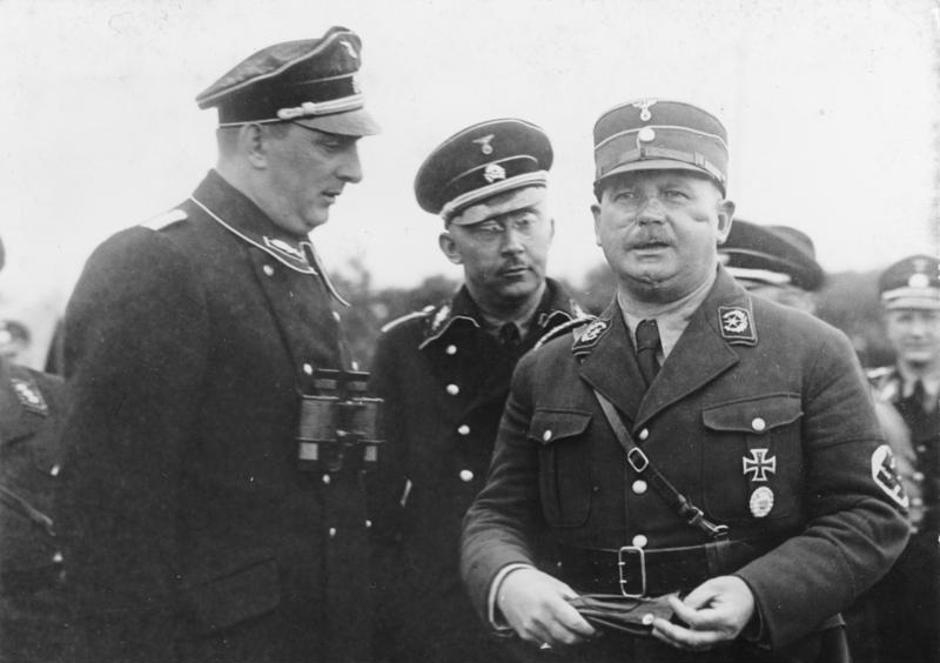 Kurt Daluege, Heinrich Himmler, Ernst Röhm | Author: Wikipedia/CC BY-SA 3.0 DE