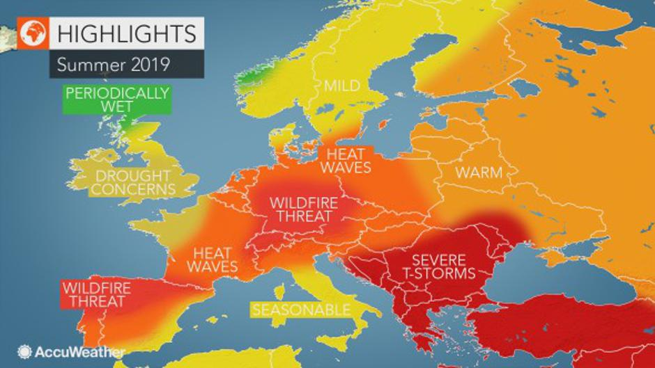 Prognoza za ljeto 2019. | Author: AccuWeather