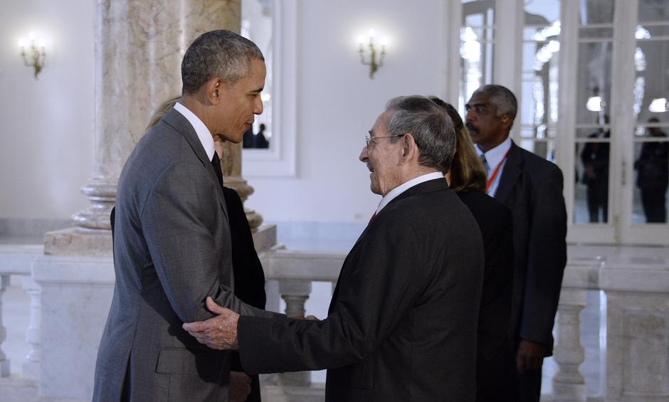 Barack Obama, Raul Castro - Havna 2016. | Author: Douliery Olivier/Press Association/PIXSELL